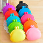 New Silicone Round Coin Purses Wallet Card Rubber Key Phone Frog Design Bag