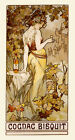 Cognac Bisquit Fashion Lady Flowers Drink by Mucha Vintage Poster Repo FREE S/H