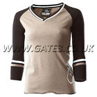 THOR WOMENS ROYAL BROWN SLEEVED T-SHIRT IDEAL CHRSTMAS PRESENT MOTOCROSS