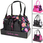 Totes Satin Bowling Bag & Make Up Case Toiletry Travel Gift Set Cosmetics Wash