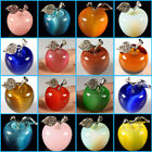 30mm Cat's eye quartz glass opalite apple statue home decor