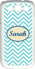 Monogrammed Aqua Blue Chevron Design Samsung Galaxy S3 Case Cover