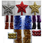Christmas Tree Topper Choose Colour In Gold, Silver, Red 20cm x 18cm x 2cm