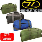 Highlander Cargo 30, 45, 65, 100 litre holdalls in Black , Blue and Olive Green