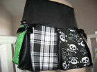 Goth,Punk,Black,White,green mixed skulls,tartan,spots,spiders Skirt-All sizes