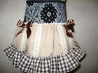 Baby Girl Black,White,Brown,cream,Check lace frilly,Punk party,Goth, Skirt