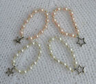 PJs ♥♥ Star ♥ Flower ♥♥ CHARM BRACELET BANGLE 4 REBORN BABY DOLL OOAK