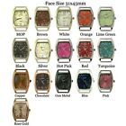 NEW WHOLESALE NEW SOLID BAR CZ RIBBON BEADING FASHION WATCH FACE USA