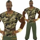 Men's Licensed Mr T A-Team BA Baracus Retro 80's TV Fancy Dress Costume
