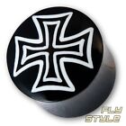 Horn Plug Eisernes Kreuz iron cross piercing schmuck bone knochen flesh tunnel