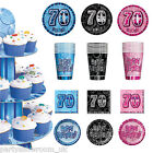 Blue Pink Black 70th Birthday Party Items Decorations One Listing PS