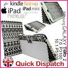 AZTEC TRIBAL RETRO DESIGN LEATHER FLIP CASE COVER FOR APPLE iPAD/SAMSUNG TABLET