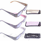 Ladies Reading Sunglasses +1 +1.5 +2 +2.5 +3 Sunburst ET1059 Sun Glasses & Case