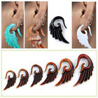 Cool Punk Resin Wing Carved Hook Spiral Ear Plug Flesh Tunnel Expander Stretcher