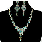 10Colors Fashion Flower Alloy Acrylic Necklace Earring Sets Wedding Party s1021