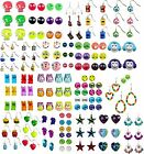 NWT Justice Girls Earrings 3-9Pr Sets Glitter Jewel Neon & More U Pick Style NEW