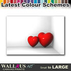 Love Hearts ABSTRACT  Canvas Print Framed Photo Picture Wall Artwork WA