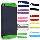1/9 Colors Top+Bottom Glass Back Housing Cover Replacement For Apple iPhone 5 5G