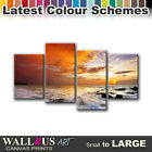 Beach SEASCAPE SUNSET  Canvas Print Framed Photo Picture Wall Artwork WA