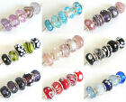 FUNKY and FAB ~ 5 Mix of GLASS Charm Beads FOR Bracelets & Necklaces 13 Designs