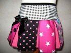 NEW Goth,Punk,Black,white,pink mixed floral,stars,spots,check Skirt-All sizes