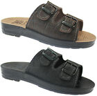MENS CASUAL BEACH FLIP FLOPS SUMMER SHOWER FAUX LEATHER MULES SHOES SANDALS SIZE
