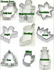 Miniature Christmas  cookie cutters sugar paste Angel, tree, snowflake, snowman