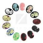 18x3/25x18/40x30 Resin Flatback Oval Skull Girl Lolita Cabochon Cameo Wholesale