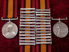 Replica Copy Boer War Queens South Africa Medal Choice1 to 9 bars Aged Full Size