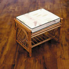 Conservatory Cane Honey Footstool With Cushion Choice of Colours