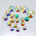 500pcs Sew On RESIN Round Rivoli Rhinestone Beads Buttons Color AB 10mm to 18mm