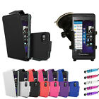 New Leather Flip Series Case Cover - In Car Phone Holder For Blackberry Z10