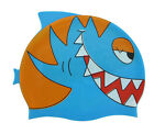 Lovely Kid's Shark Animal Head Silicone Fish Silicone Fun Child Swim Cap