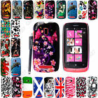 For Nokia Lumia 610 Stylish Printed Hard Shell Case Protection Cover With Stylus