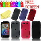 S LINE GEL SKIN PHONE CASE COVER for HTC SENSATION / XE + SCREEN PROTECTOR