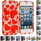Colorful Design Hard Snap-On Rubberized Case Skin Cover for iPhone 5 5G 5th