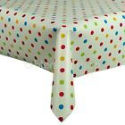 DOTTY MULTI VINYL WIPE CLEAN TABLECLOTH NEW - Click for list of sizes