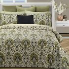 3pc Green/Tan/Black Persian Style 300TC Cotton Sateen Duvet Set Queen King image