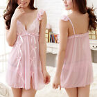 Casual Pink Babydoll Lace Womens Lingerie Nightie Chemise S M L Or Plus XL 2XL