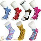 SILLY SOCKS - Novelty Cotton Converse Trainers Sneakers Sock Funny Present Gift