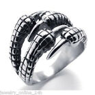 Men's Lady's Stainless Steel Silver Biker Eagle Claw Ring Size7-14 NEW Jewelry