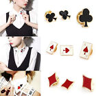 2/3/5/10Pcs Chic Punk Poker Design Decorative Enamel Pin Collar Brooch Breastpin