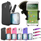 Thin Hard Case Cover - Car Holder Mount Car Charger For Samsung Galaxy S4 i9500