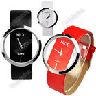 2013 New Fashion Women Synthetic Leather N4U8 Transparent Dial Lady Wrist Watch