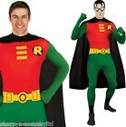 Mens Robin (Batman) Hero 2nd Skin Jumpsuit Bodysuit Fancy Dress Costume Outfit
