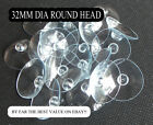 SUCTION CUPS - 32mm ROUND BUTTON  - LOW PRICES - WINDOW SUCKERS FREE POSTAGE