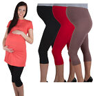 Comfortable elegant maternity pregnancy crop cropped 3/4 leggings WITH PANEL