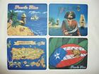 """PUERTO RICO BORINQUEN MOUSE PAD 7X8.5"""" COMPUTER SOUVENIRS GIFT ASSORTED STYLES"""