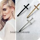3 Pairs New Women's Fashion Europe Punk Rock Style Long Cross Ear Stud Earrings