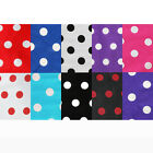 Polka Dot POLYCOTTON FABRIC per 1m METRE - 115cm Wide 20mm 25mm Spotted Material